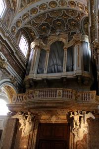 Inside the church of San Luigi dei Francesi